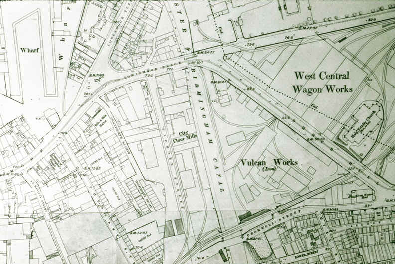 Detail of Map of Worcester Vulcan Works c1890 J1302081E31jpg